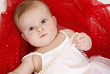 Free Baby With Beads Royalty Free Stock Photo - 19198675