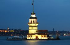 The Maiden S Tower In Istanbul. Stock Photography