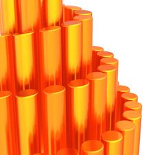 Free Abstract Background Of Orange Cylinders Royalty Free Stock Photography - 19199957