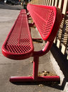 Free Red Bench Royalty Free Stock Photos - 1927528