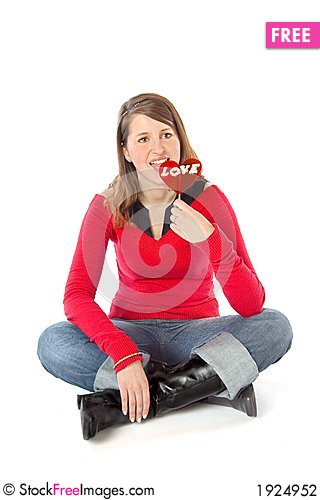 Free Girl Licking A Lollipop Stock Photography - 1924952