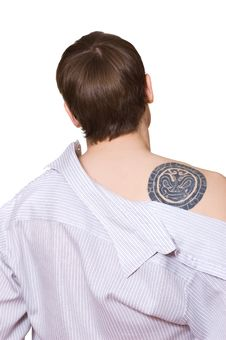 Handsome Guy With Tattoo Royalty Free Stock Images
