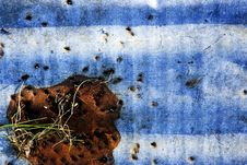 Rust, Corrugated Steel Abstract Stock Photo