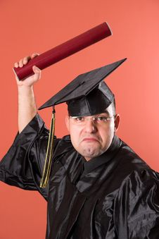 Graduation A Funny Man Stock Images