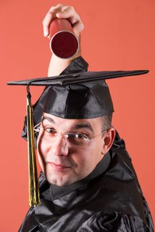 Free Graduation A Man Royalty Free Stock Photos - 1921828