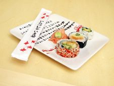 Free Sushi On A Japanese Plate 2 Stock Photo - 1922880