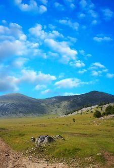 Free Dinara Mountain Over Blue Clouds 6 Stock Image - 1923471