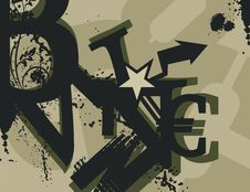Free Typography Grunge Background Stock Images - 1923704