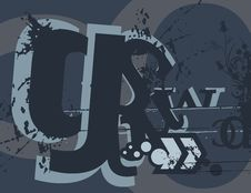 Free Typography Grunge Background Royalty Free Stock Image - 1923716