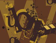 Free Typography Grunge Background Royalty Free Stock Photo - 1923825