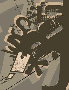 Free Typography Grunge Background Royalty Free Stock Image - 1923886