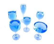 Free Glasses With A Blue Liquid Royalty Free Stock Images - 1924129