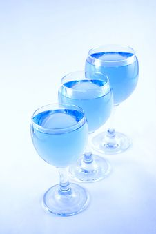 Free Glasses With A Blue Liquid Stock Photography - 1924152