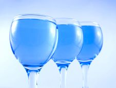 Free Glasses With A Blue Liquid Stock Image - 1924161