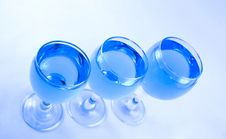 Free Glasses With A Blue Liquid Royalty Free Stock Photos - 1924168