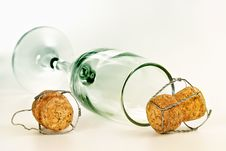 Free When The Holiday Is Over-glass Lays On A Table Stock Images - 1924594