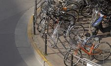 Bicycles Parking Stock Image