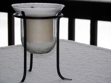 Free Candle In The Snow Royalty Free Stock Image - 1925606