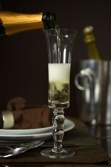 Free Pouring Champagne Into A Flute Royalty Free Stock Image - 1925986