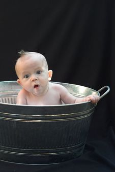 Free Baby In Tub Stock Image - 1926121