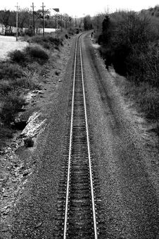 Free Train Tracks Royalty Free Stock Photos - 1926248