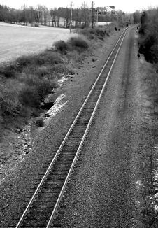 Free Country Railroad Tracks Stock Photography - 1926312