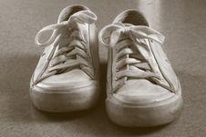Free White Sneakers Duotone Stock Photo - 1926470