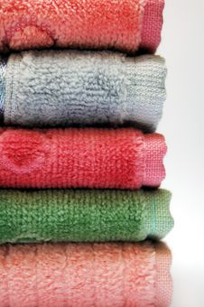 Free Stack Of Towels Royalty Free Stock Photos - 1926528