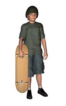 Skater Boy 2 Royalty Free Stock Photography