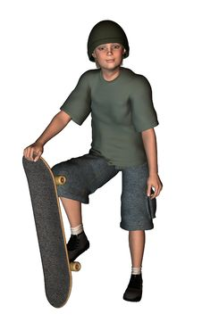 Free Skater Boy 3 Royalty Free Stock Images - 1926839