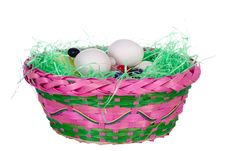 Free Easter Basket With Blank Eggs2 Royalty Free Stock Image - 1927976