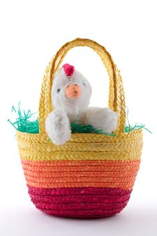 Free Easter Basket With Chicken Royalty Free Stock Image - 1928626