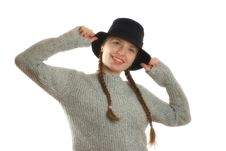 Free Woman With A Hat Royalty Free Stock Photos - 1929038