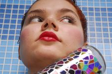 Hair Dyeing Royalty Free Stock Photography