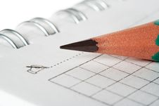Free Pencil And Notebook Royalty Free Stock Photography - 1929717