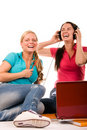 Free Students Having Fun, Doing Home Work Royalty Free Stock Photography - 19200047