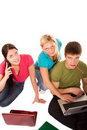 Free Friends Are Doing Homework Royalty Free Stock Photo - 19200065
