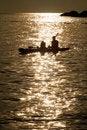Free Kayaking Silhoutte Royalty Free Stock Images - 19202009