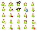 Free Set Of Icons-avatars Royalty Free Stock Images - 19208419