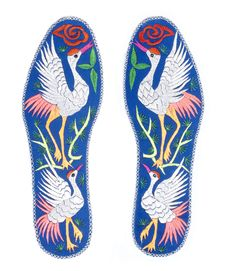 Free Handmade Insoles Isolated On White Royalty Free Stock Photos - 19200338