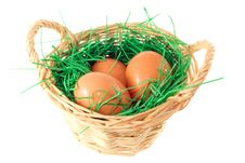 Free Basket With Eggs Stock Photo - 19200930