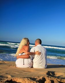 Free Couple On Caribbean Beach Royalty Free Stock Images - 19201219