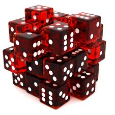 Free Red Dice Cube Royalty Free Stock Images - 19201449