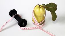 Free Guava Fruit Size Tape Measure Stock Photo - 19201540