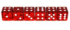 Free Line Of Red Dice Royalty Free Stock Photo - 19201545