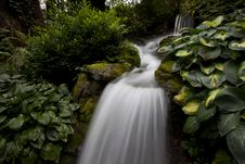 Waterfall In The Rainforest In British Columbia Royalty Free Stock Image