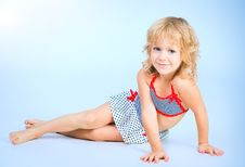 Adorable Smiling Playful Girl 4 Years Old Stock Image