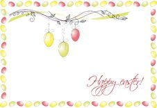 Free Easter Card Royalty Free Stock Photos - 19202738