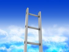 Ladder In Heaven Stock Photography