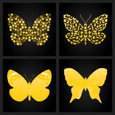 Free Gold Butterfly Royalty Free Stock Photo - 19203185